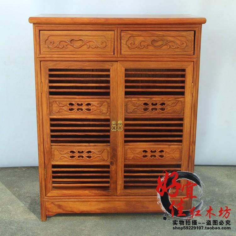 特价红木家具 客厅家具 实木非洲花梨木 现代中式宜家 二门鞋柜