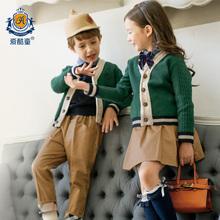 幼儿园园服秋冬装儿童学院风春秋校服套装韩国小学生女童英伦班服