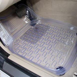 包邮通用透明汽车脚垫 汽车塑料脚垫 时尚车用脚垫防水PVC脚垫