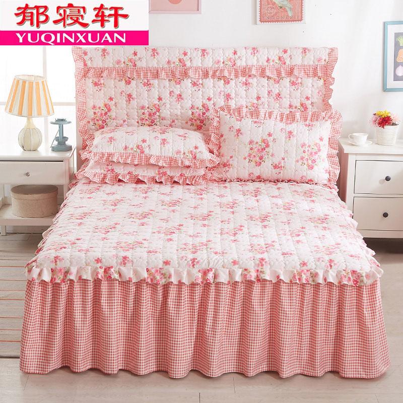 韩式夹棉床裙床罩单件加棉1.5/1.8米席梦思床套2.0m加厚床头罩冬