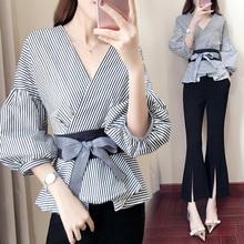 2017秋季新款女装潮韩版时尚气质名媛小香风时髦两件套阔腿裤套装