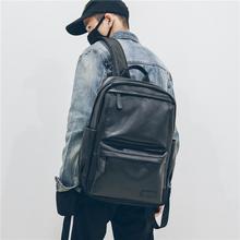 潮男双肩包新款帅气男士商务背包旅行防雨百搭电脑书包时尚大容量