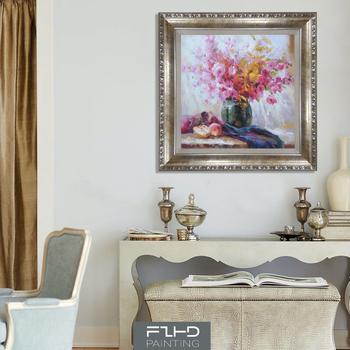 家居 纯手绘油画 简约现代客厅装