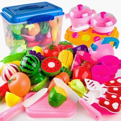 切水果玩具儿童水果蔬菜蛋糕切切乐切切看过家家女孩厨房玩具套装