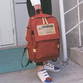 街头潮流韩版校园新款男生帆布双肩包女大容量旅行背包学生书包女