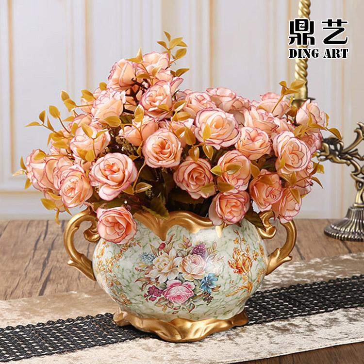 欧式复古家居客厅餐桌装饰工艺品美式摆件陶瓷仿真小