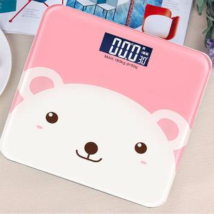 家用电子称测体重秤精准成人减肥称重计器卡通可爱迷你婴儿人体秤