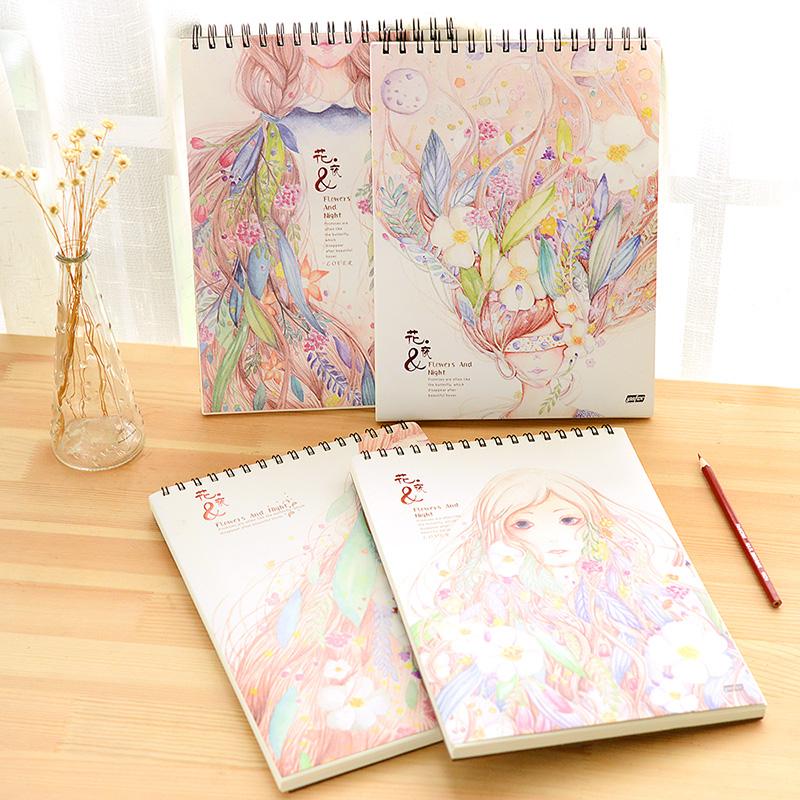 韩国创意优凡文具素描本素写本A4厚空白美术涂鸦速写本手绘图画本