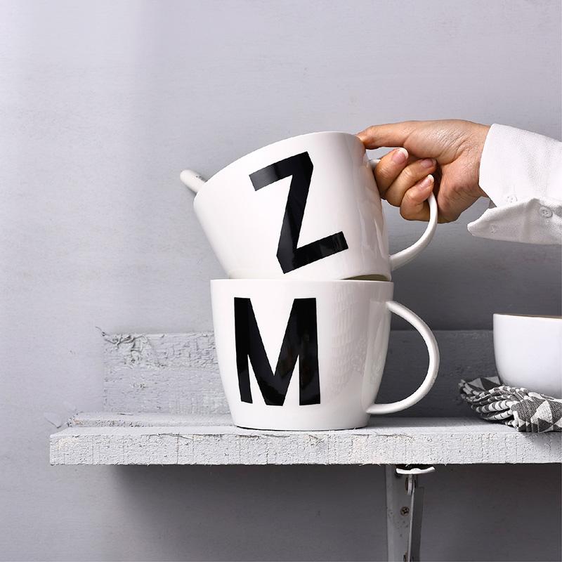 超大号早餐杯燕麦杯碗微波炉加热牛奶马克杯泡面杯子陶瓷杯送盖勺