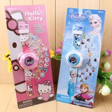 幼儿园小朋友礼品奖品生日礼物玩具手表 儿童卡通20图3D投影手表