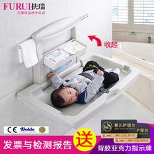 第三卫生间多功能换尿布床母婴浴室可折叠壁挂婴儿护理台安全座椅