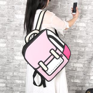 爆款台湾二次元漫画包2D立体书包3D双肩包背包潮男女书包女包