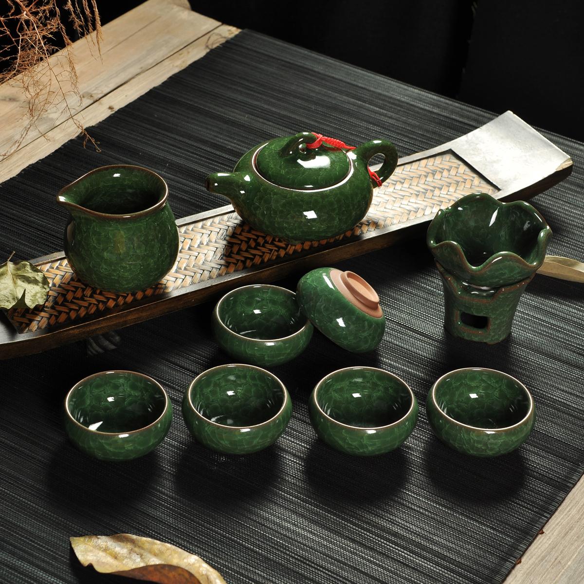 台湾冰裂釉茶具套装整套陶瓷紫砂功夫茶具茶壶茶杯正品特价包邮
