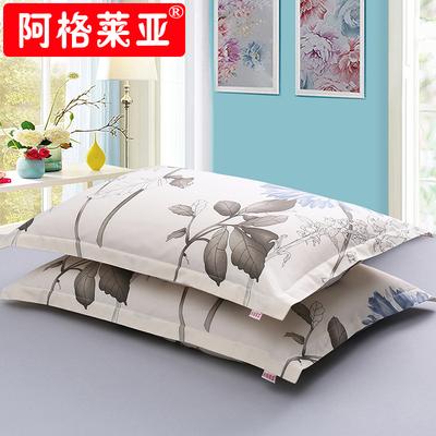 【一对装】纯棉斜纹枕套48x74cm全棉枕头套学生单人枕芯套包邮