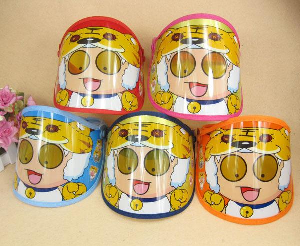 13夏季新款防紫外线韩国 儿男童网帽子 女童空顶带网太阳帽