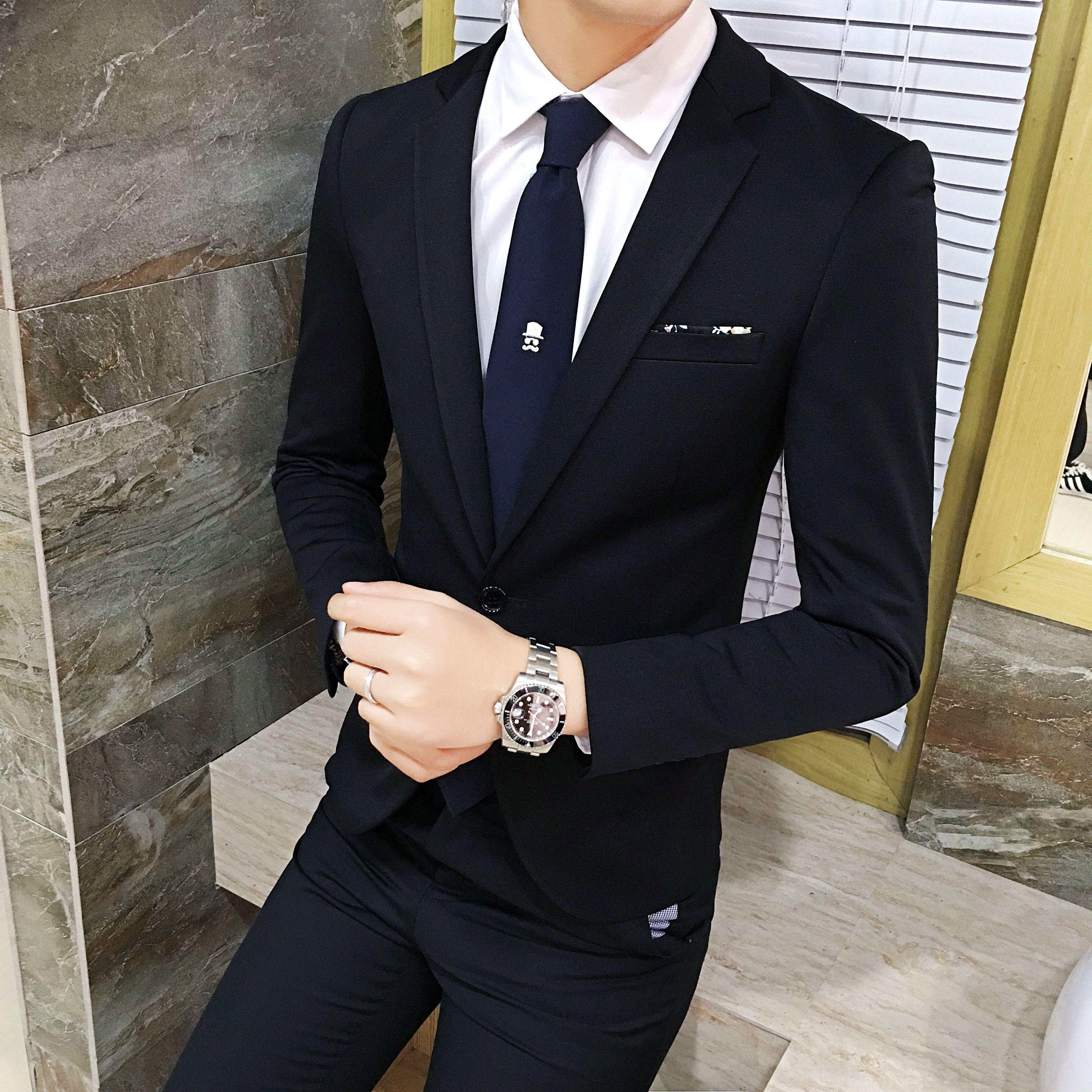 加小码男士紧身小西装XS矮小个子特小版超修身西服外套男S码正装