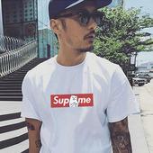 bf风短袖T恤男日系原宿风纯棉圆领宽松情侣街头嘻哈青少年体恤潮