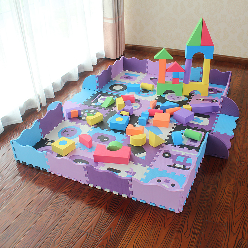 明德拼图地垫加厚围栏宝宝爬行垫游戏垫婴儿爬行垫加厚爬爬垫