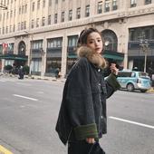2016冬季新款韩版毛领宽松棉服羊羔毛外套女加厚bf加绒牛仔棉衣潮