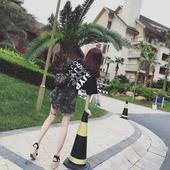 2016新款韩版休闲t恤上衣迷彩半身裙时尚短裙套装女夏季两件套潮