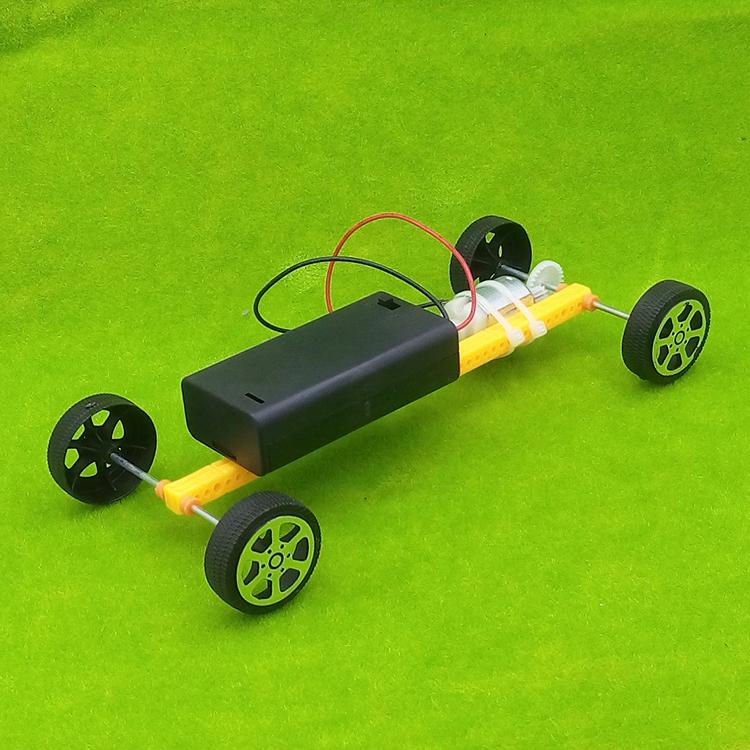 儿童小发明科技普手工小制作超高速单杆小车玩具套装物理材料益智