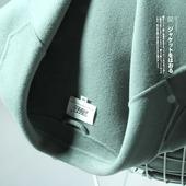 吾笙2017秋装新款韩国双面绒中长款茧型双面呢子大衣羊毛呢外套女