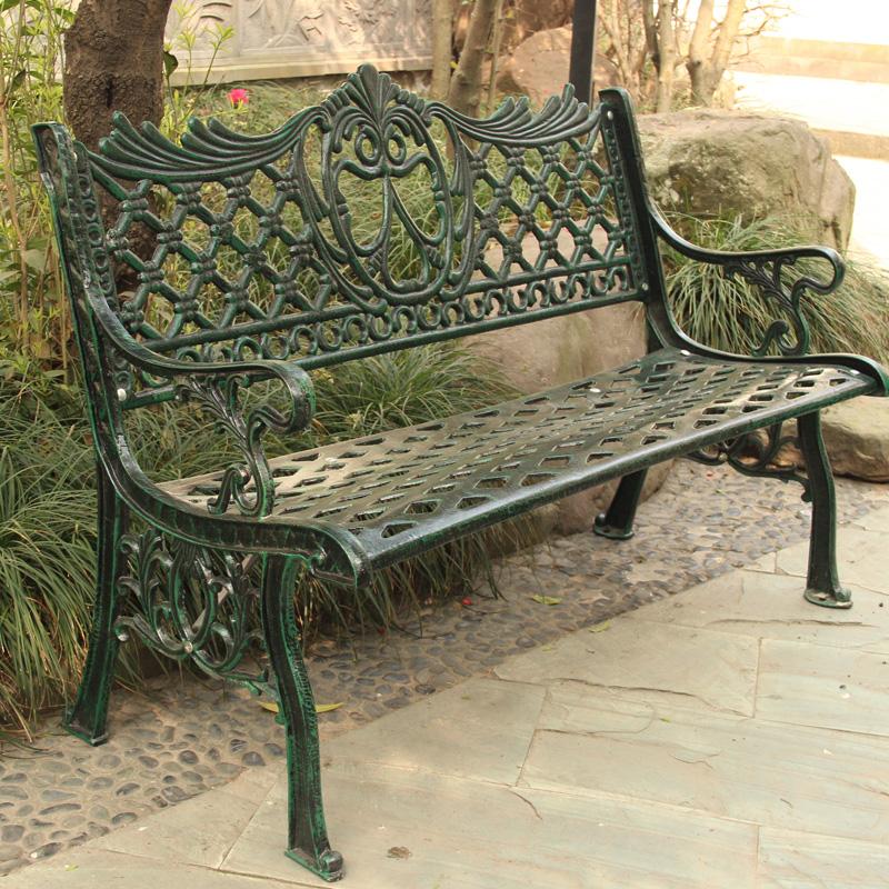 公园椅铸铁铸铝工艺欧式仿古户外家具防锈不生锈阳台不锈钢园林凳图片