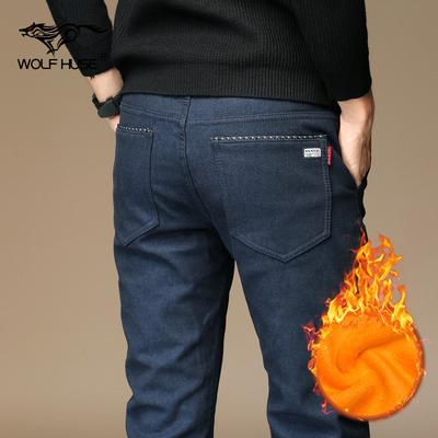 男士棉裤男冬季加厚加绒保暖外穿裤子带绒男装冬裤修身男款休闲裤