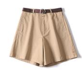 建议收2色!夏天可不能少!送腰带水洗休闲短裤女夏热裤显瘦4分裤