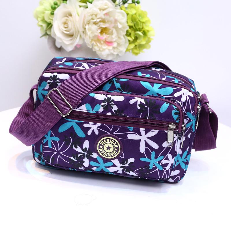 挎包花布尼龙帆布包中年时尚妈妈包包休闲百搭单肩中老年