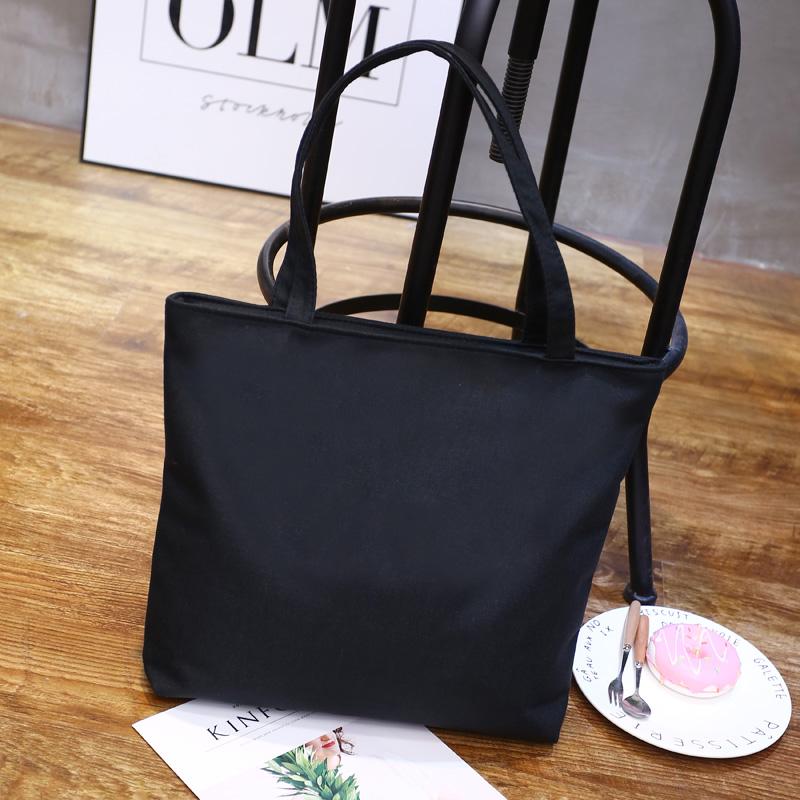 新款女士布料卡通购物袋简便大布兜子单肩背包手挎包手提包 2017