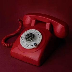 派拉蒙仿古电话机梦幻莱茵1950TN旋转拨号电话饰品机械铃家用座机