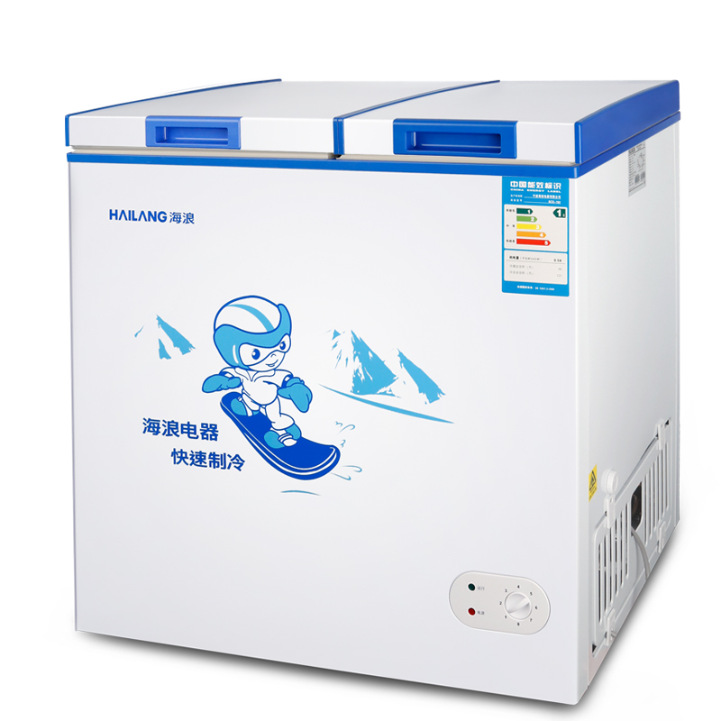 双门小型家用冷柜立式冰柜冷冻冷藏商用 182L BC BD 海浪 HAILANG