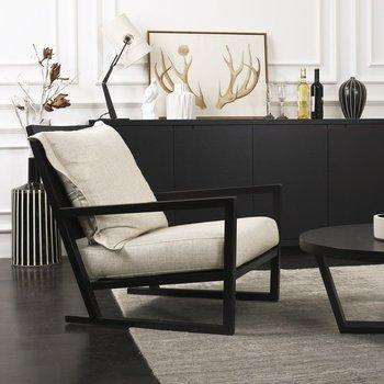 美式家具北欧简约铁艺休闲椅沙发