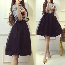 2017春装新款套装女装潮韩版宽松衬衫时尚网纱蓬蓬裙两件套连衣裙
