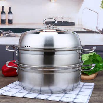 304不锈钢蒸锅2层两层蒸馒头加厚