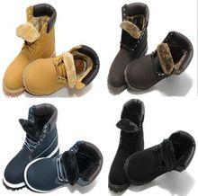 冬季爆款欧美耐磨减震保暖防水经典高帮加绒大黄靴户外工装毛毛靴
