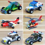 兼容乐高积木儿童益智拼装玩具飞机警车男孩子5-6-7-8-9-10岁礼物
