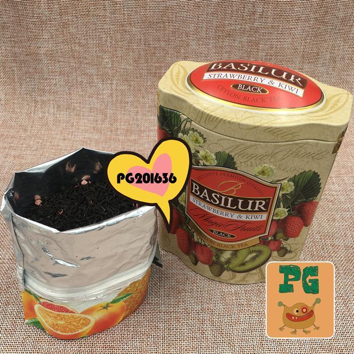 礼盒装 100g ;猕猴桃味 amp 草莓& 果茶系列 宝锡兰 BASILUR 斯里兰卡进口