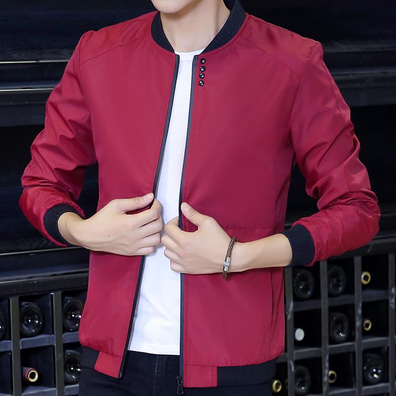 秋季青年男士夹克薄款青少年超薄外套韩版修身学生上衣男装潮外穿