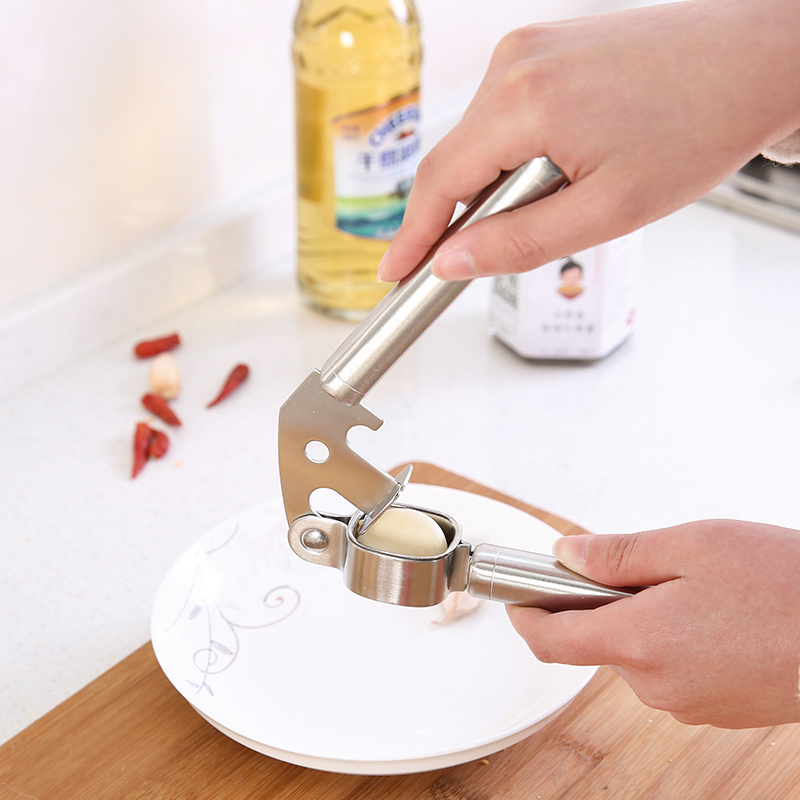 手动压蒜器不锈钢色捣蒜器挤蒜剥蒜夹蒜器蒜蓉器捣蒜器蒜泥器