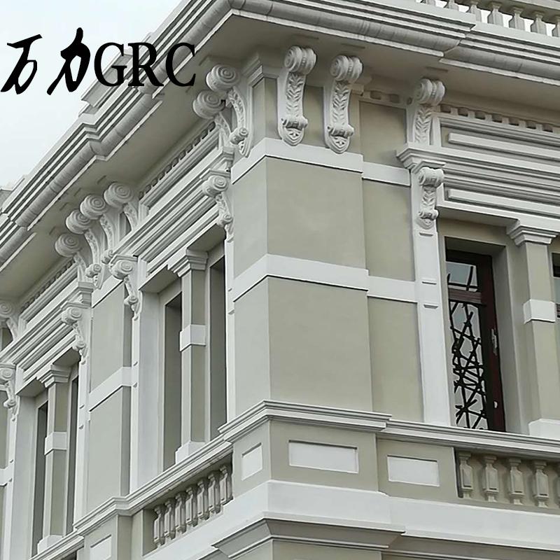 grc梁托别墅外墙屋檐建筑罗马柱 欧式水泥模具线条板花盆可定制做