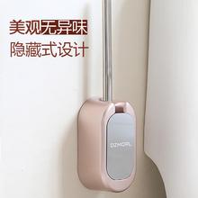 厕所刷免打孔卫生间洁厕刷子软毛无死角马桶刷架吸壁式 马桶刷套装