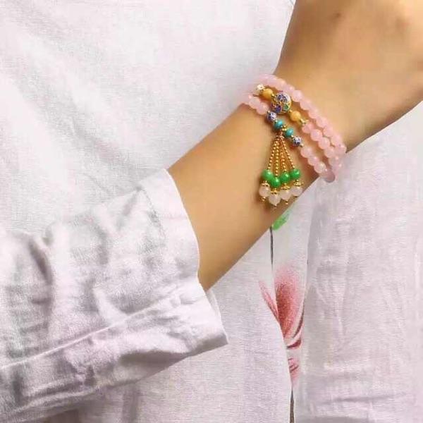 碧玺源珠宝首饰天然水晶玛瑙手链吊坠戒指,