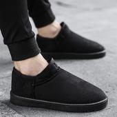 冬季雪地靴男士短靴棉靴韩版男鞋子休闲加绒保暖棉鞋马丁鞋男靴子