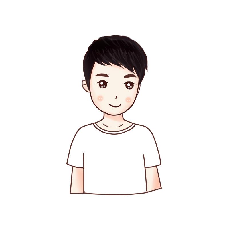 【六号惠馆】清新卡通男q版头像手绘定制qq微博微信头像logo设计图片