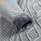 冬季加绒加厚男士毛衣圆领套头针织衫保暖韩版男装羊毛衫打底衫潮