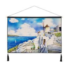 饰挂布壁毯电表箱玄关可定制风景挂画 地中海挂毯卧室客厅墙壁装