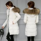 反季女装冬季棉衣女中长款外套加厚韩版棉服女修身百搭冬季棉袄潮
