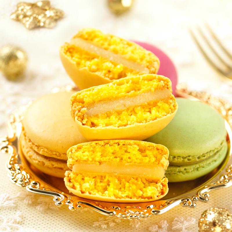 马卡龙甜点蛋糕零食12枚/24枚礼盒装法式马卡龙生日表白手工甜品